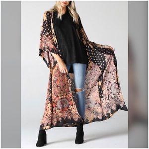 🔥Gorgeous Tie Dye Print Duster Kimono Cardigan